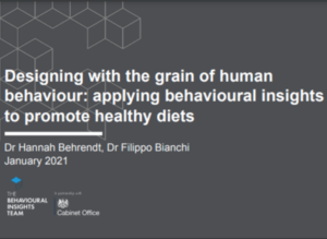 Designing With the Grain of Human Behaviour: Applying Behavioural Insights to Promote Healthy Diets – BIT