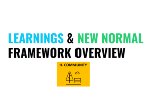 Learnings & New Normal Framework Overview: Consumers – Community